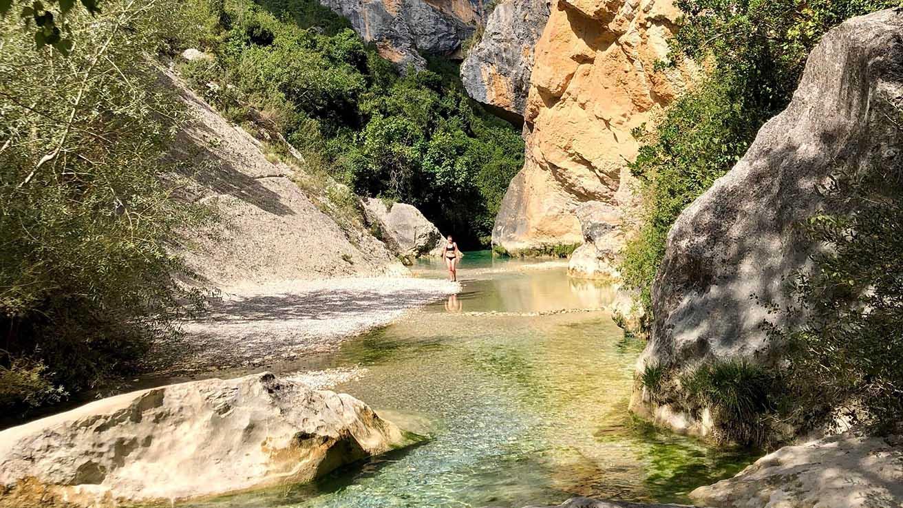 Geologia Pirineos rio Vero Guara