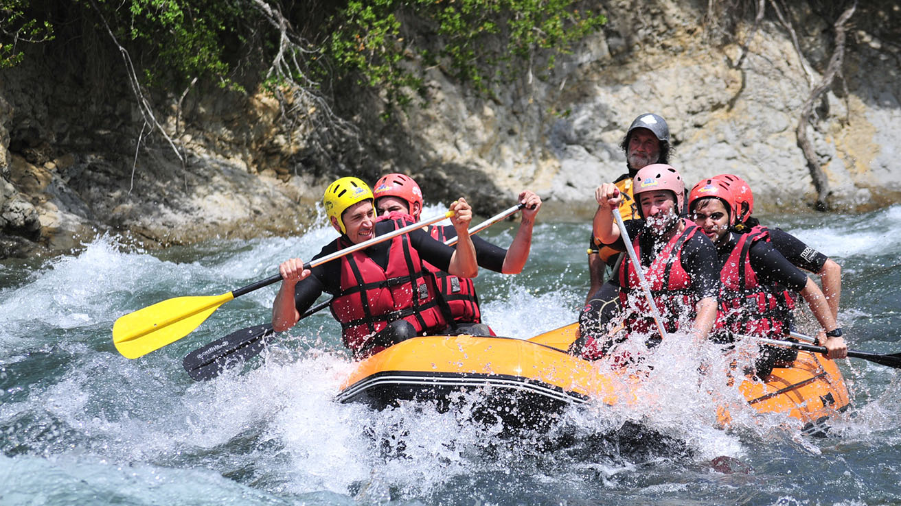 Rafting en el Pirineo