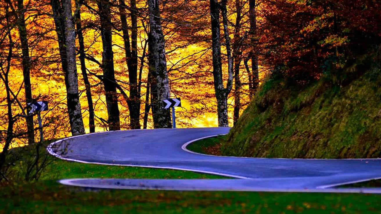 Road Pirineo en Otoño