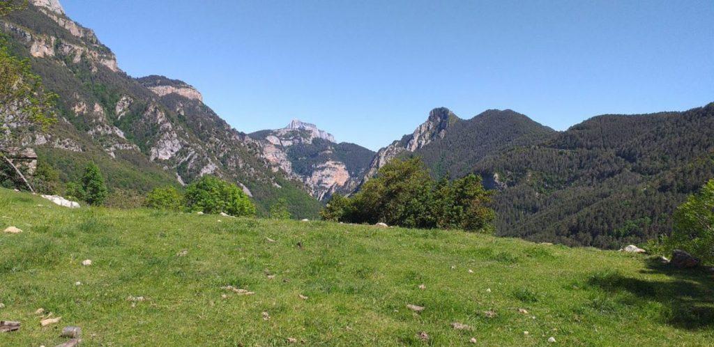 Vistas desde Sercué en Añisclo, Parque Nacional de Ordesa