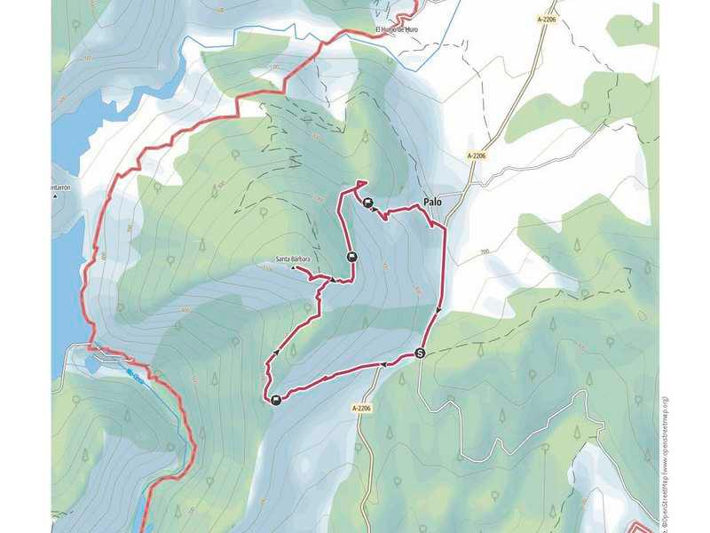 Plano de la ruta